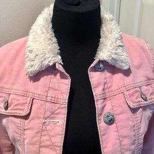 GAP Girls 1969 Corduroy Jacket with Faux Fur